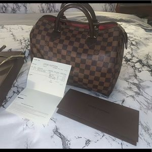 💯Authentic Louis Vuitton Speedy 30 Ebene